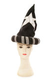 Mannequin head with wizard hat. Cutout Royalty Free Stock Photography