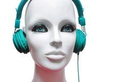 Mannequin headphones Stock Photos