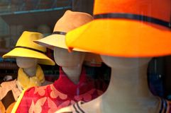 Mannequin heads with hat Royalty Free Stock Images