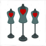 Mannequin with heart. For the store. Vector format Stock Images