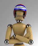 Mannequin with helmet Royalty Free Stock Photos