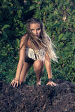 Mannequin hippie de style Photos stock
