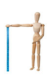 Mannequin holding a measuring tape Royalty Free Stock Photo