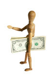 Mannequin holding money Stock Photography