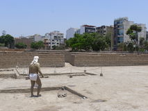 Mannequin in Huaca Pucllana, Miraflores, Lima Lizenzfreie Stockbilder