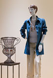Mannequin In Blue Tunic Stock Images