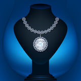 Mannequin jewelry backlit Royalty Free Stock Photos