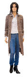Mannequin in knitted coat, clipping path Stock Photo