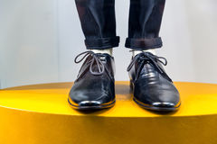 Mannequin legs in shoes and trousers Royalty Free Stock Photo
