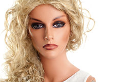 Mannequin with long blond hair Royalty Free Stock Photos
