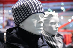 Mannequin man fashion store Stock Image