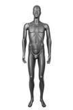 Mannequin masculin noir d'isolement sur le blanc Photo libre de droits