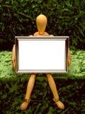 Mannequin met Frame /B royalty-vrije stock afbeeldingen