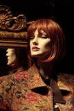 Mannequin with a Mirror. Mannequin reflected in a framed mirror (not a human royalty free stock photos