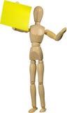 Mannequin mit Post-Itanmerkung Lizenzfreie Stockfotos