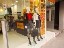 Mannequin nella finestra del negozio Fotografia Stock Libera da Diritti