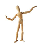Mannequin old wooden dummy dancing thai style isolated on Stock Photos