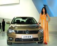 Mannequin op de zaalauto van Volkswagen Bora Royalty-vrije Stock Afbeeldingen