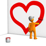 Mannequin painting heart Stock Photo