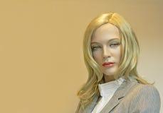Mannequin portrait. Portrait of an elegant blonde woman mannequin Royalty Free Stock Photo