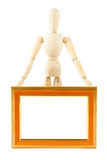 Mannequin in pose with frame Royalty Free Stock Photos