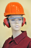Mannequin and protection equipment Stock Photography