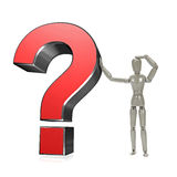 Mannequin with question mark Royalty Free Stock Image