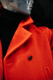 Mannequin in red coat Royalty Free Stock Photography