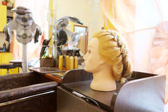 Mannequin's head with hairstyle Stock Photo
