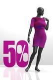 Mannequin sale showcase scene Stock Photo