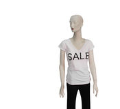 Mannequin in For Sale Tshirt Stock Image