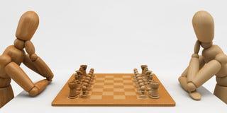 Mannequin-Schach Lizenzfreie Stockbilder