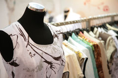 Mannequin in shop Royalty Free Stock Photography