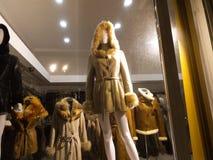 Mannequin in shop window Stock Photos