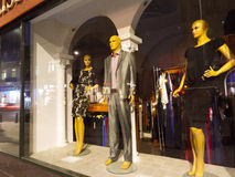 Mannequin in shop window Royalty Free Stock Photography