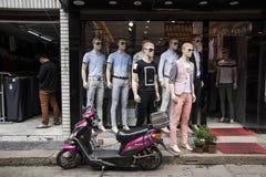 Mannequin shopfront Obraz Stock