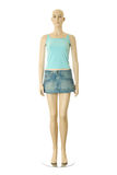 Mannequin in short skirt | Isolated Royalty Free Stock Photo