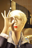 Mannequin showing the hand-eye Stock Photo