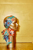 Mannequin with silk cloth Royalty Free Stock Image