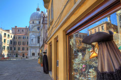 Mannequin and souvenir shop on plazza in Venice. Stock Photo