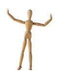 Mannequin starej drewnianej atrapy arbitra jednakowy boks bawi się Obraz Stock