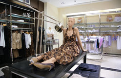 Mannequin in store Royalty Free Stock Photos