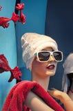 Mannequin in store window. Stock Image