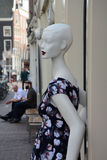 Mannequin on the street of Amsterdam Royalty Free Stock Image