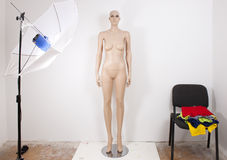 Mannequin in studio Royalty Free Stock Photos