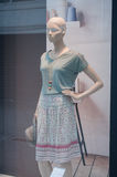 Mannequin with summer skirt in a fashion showroom Stock Photo