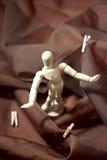 Mannequin surfando Fotografia de Stock Royalty Free