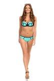 Mannequin In Swimsuit Walking vers l'appareil-photo photographie stock libre de droits