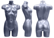 Mannequin, three angles Royalty Free Stock Photos
