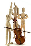 Mannequin and violin Royalty Free Stock Image